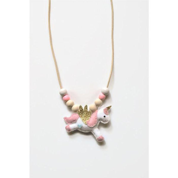 Felt Unicorn Necklace - Finding Unicorns