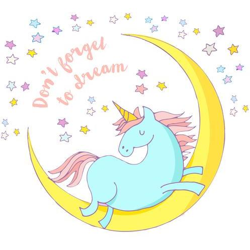 Unicorn Greeting Card with Unicorn Flurry - Finding Unicorns