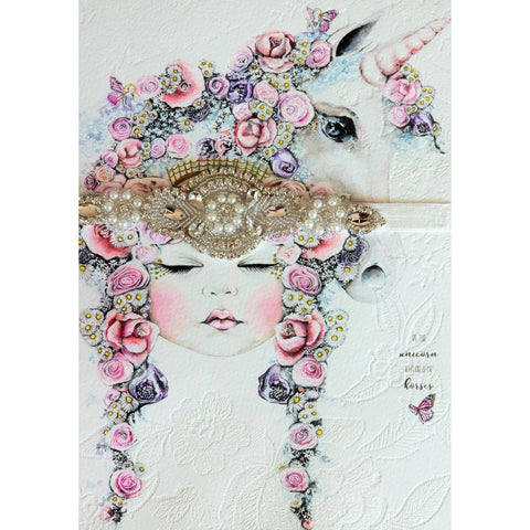 'Fantasia' Unicorn Artwork and Headband Gift Set - Finding Unicorns