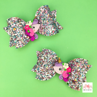 Flora Lilac Unicorn Bow - Finding Unicorns
