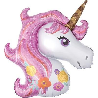 Unicorn Head Balloon - Floral Design - Finding Unicorns