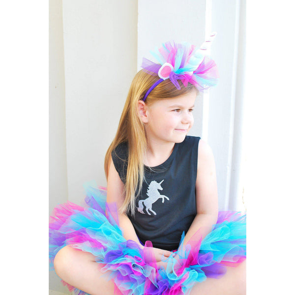 Handmade Galaxy Unicorn Dress-Up Set with Headband - Finding Unicorns
