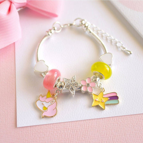 Ruby's Magic Wish Unicorn Charm Bracelet
