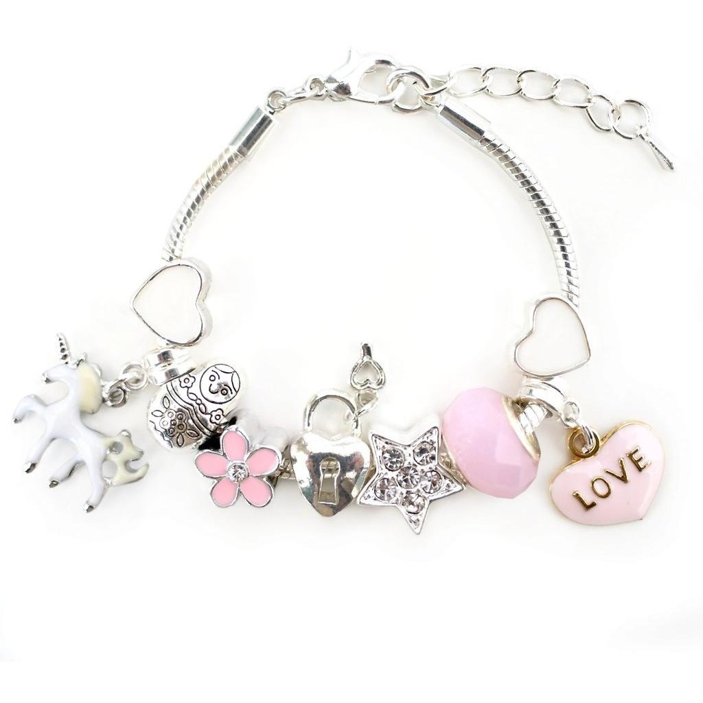 Unicorn Charm Bracelet - Pink - Finding Unicorns