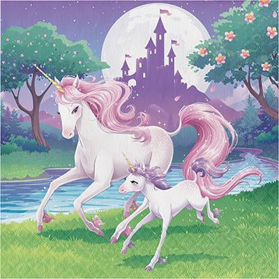 Unicorn Fantasy Party Napkins - Finding Unicorns