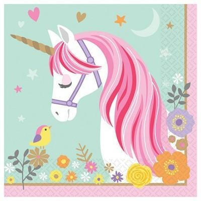 Magical Unicorn Party Napkins - Finding Unicorns