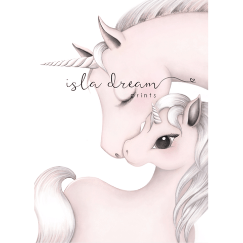 Mila & Mum - Unicorn Artwork - Finding Unicorns