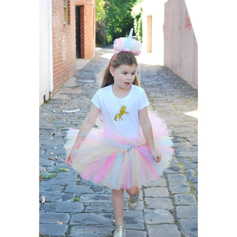 Handmade Rainbow Unicorn Dress-Up Set with Headband - Finding Unicorns