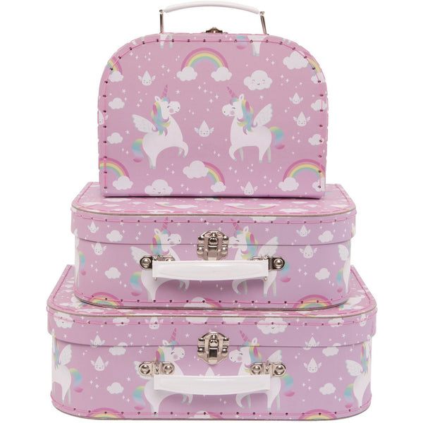 Rainbow Unicorn Suitcases (Set of 3) - Finding Unicorns