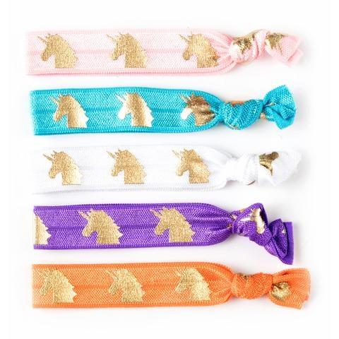 Unicorn Silky Knotted Hair Ties - Finding Unicorns