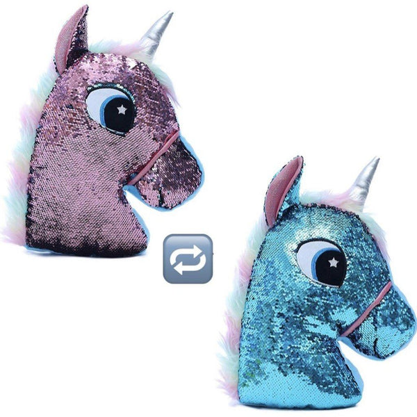 Reversible Sequin Unicorn Cushion - Finding Unicorns
