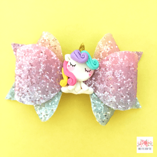 Sleepy Unicorn Bow - Finding Unicorns