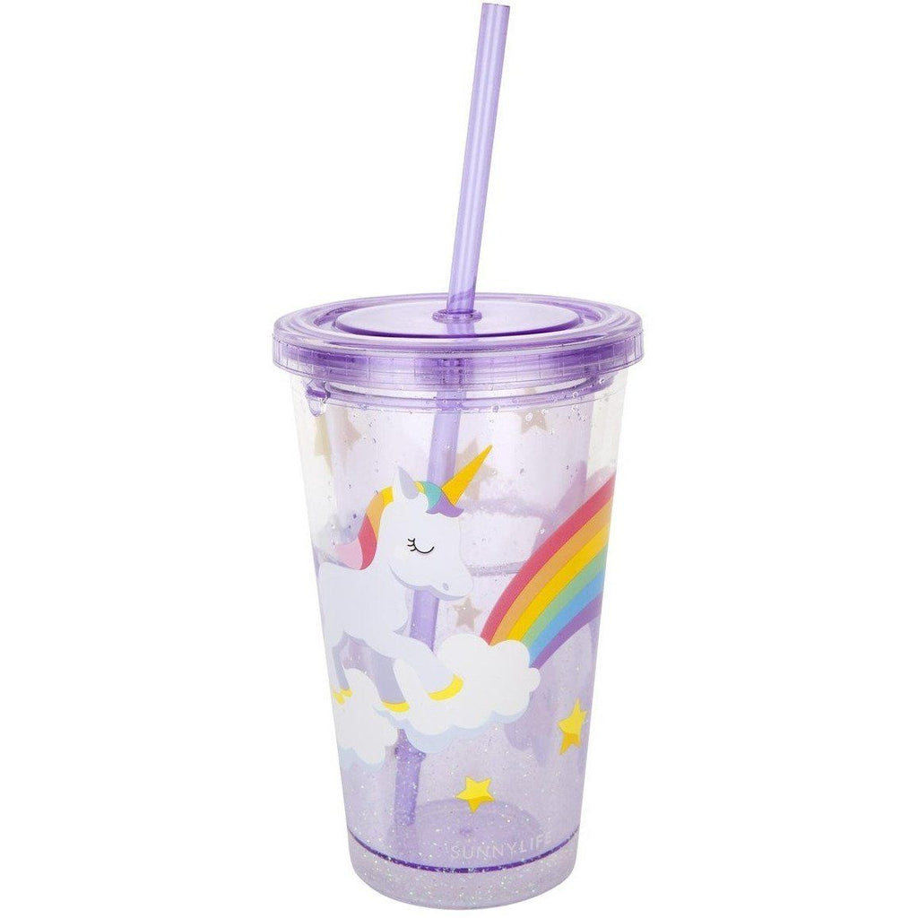 Unicorn Wonderland Glitter Drink Tumbler - Finding Unicorns