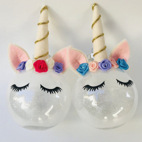 Unicorn Christmas Baubles - Finding Unicorns