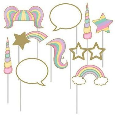 Unicorn Sparkle Photo Booth Props - Finding Unicorns