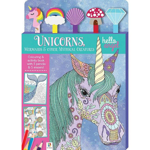 Unicorns and Mermaids and Mythical Creatures Activity Book