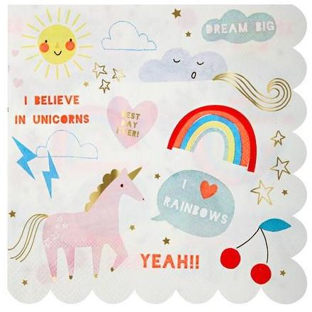 Unicorn Party Napkins - Finding Unicorns
