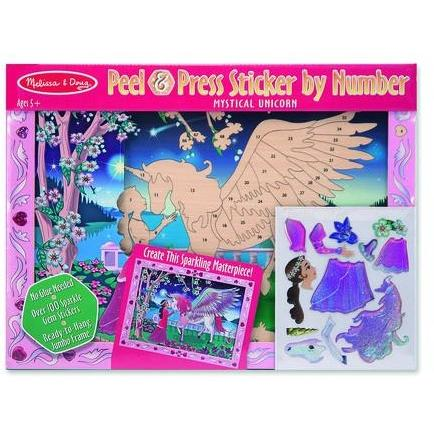 Mystical Unicorn - Peel and Press Sticker by Numbers - Finding Unicorns