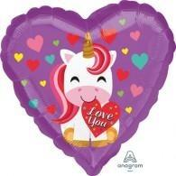 Unicorn 'I Love You' Balloon - Finding Unicorns