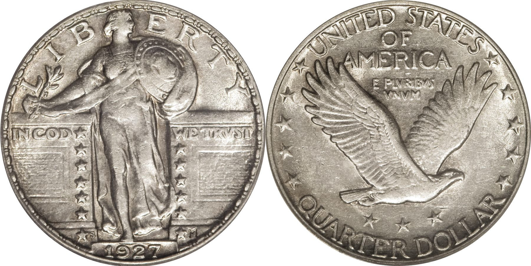 Standing Liberty Quarter AU-50 Condition