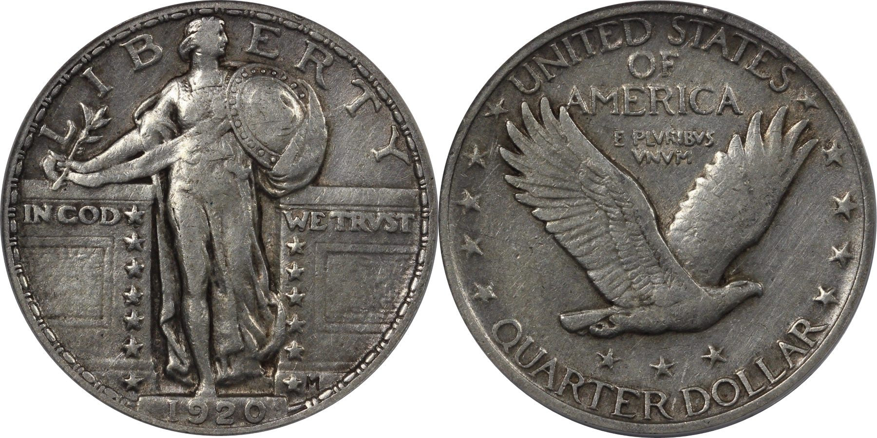 Standing Liberty Quarter Extremely Fine Condition