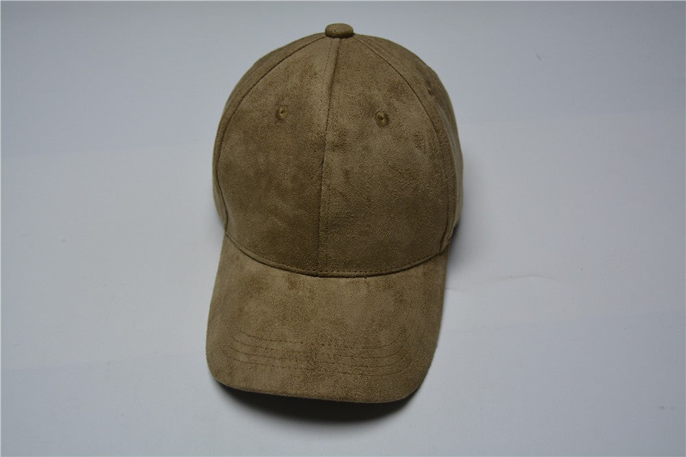 Olive Green Suede Cap