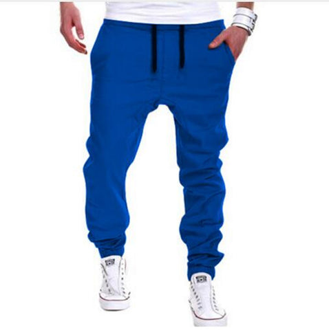 Blue Casual Joggers