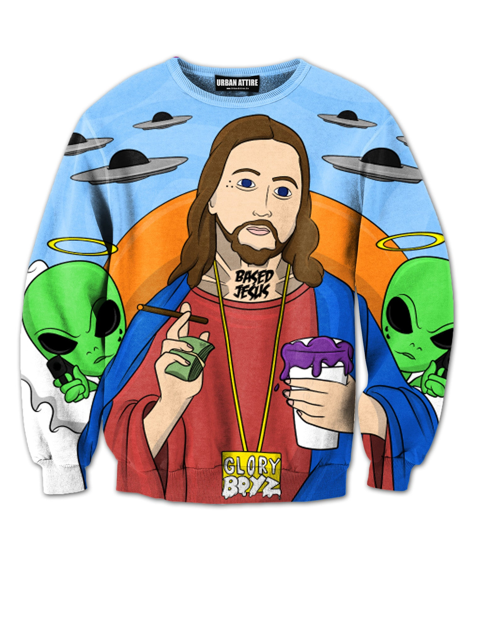 Based Jesus Crewneck