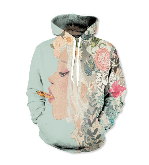 Abstract Girl Hoodie