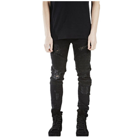Black Skinny Destroyed Jeans