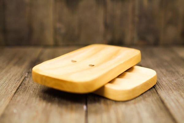 Soap Dish - Wooden Rectangle