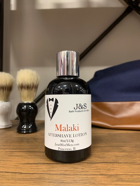Malaki - Aftershave Lotion 4oz Bottle