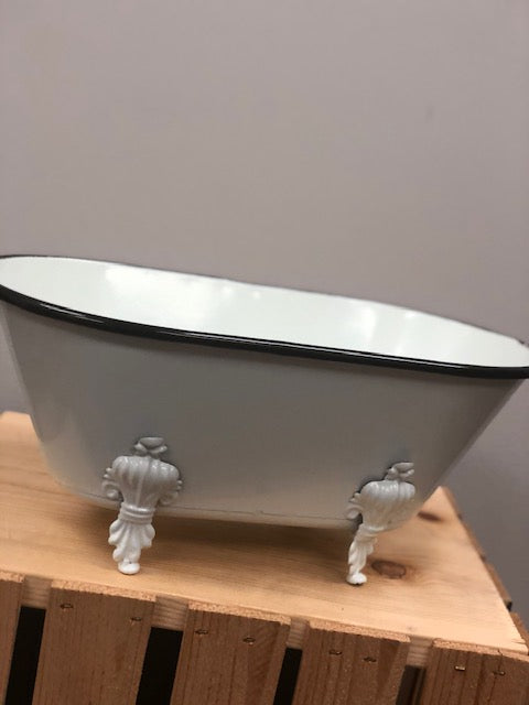 Black & White Enamel Large Bathtub