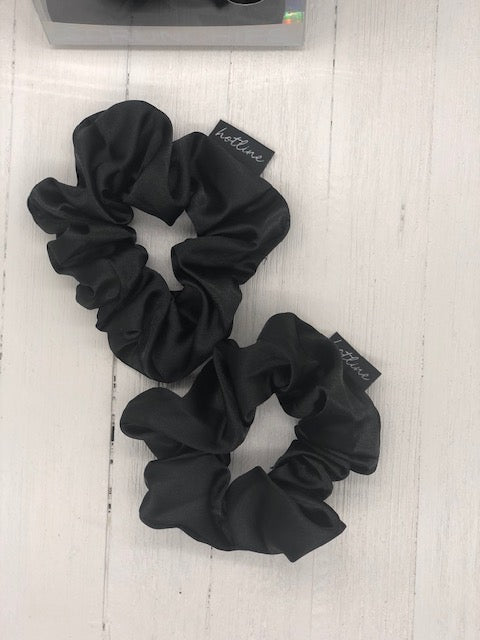 Black - Unwind Satin Scrunchie