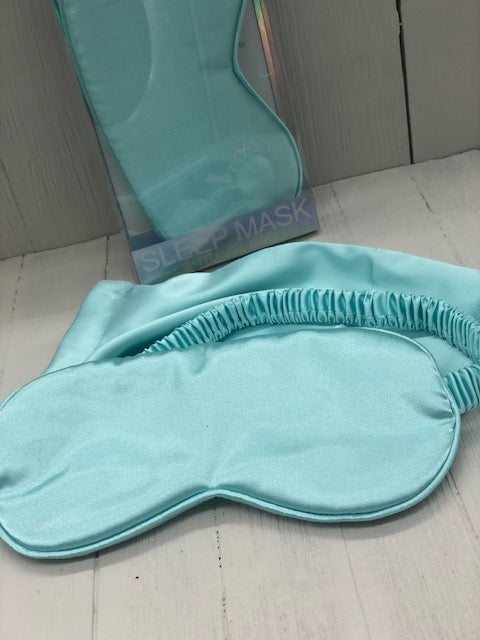 Sleep Mask & Travel Bag - Aqua Blue