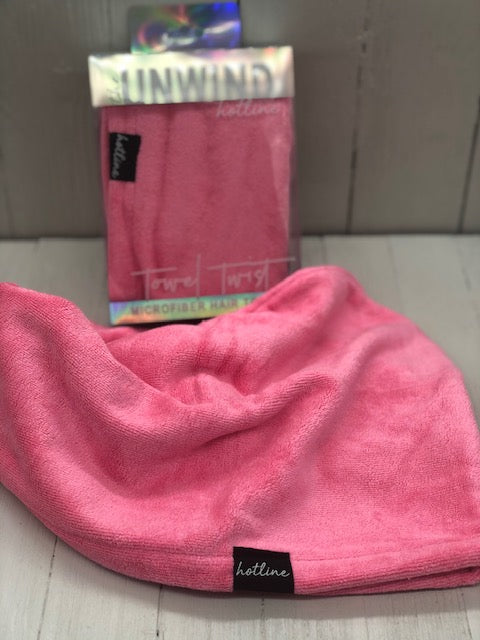 Hot Pink Towel Twist - Microfiber Hair Towel