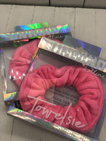 Hot Pink Towelsie - Microfiber Scrunchie