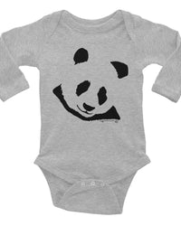 Cute Panda Baby Onesie, Infant Long Sleeve Bodysuit, Adorable Panda Clothes For Baby.-Baby onesies-4Endangered