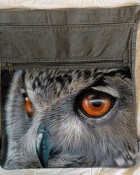 Owl Backpack/Sport Bag Airbrushed Authentic Pigment Realistic Owl-Backpack-4Endangered