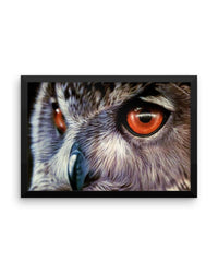 Owl Framed Poster Print Detailed Owl Wall Art-Framed Poster Prints-4Endangered