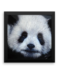 Panda Bear Framed Poster Print Detailed Panda Wall Art-Framed Poster Prints-4Endangered