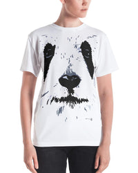 Panda White Face Graphic Design Women's T-shirt-Graphic Tees-4Endangered
