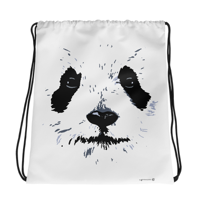 Panda White Face Graphic Drawstring Backpack/Bag Cute Panda Backpack-Drawstring Backpack-4Endangered