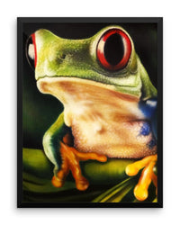 Red Eyed Tree Frog Framed Poster Print Detailed Frog Wall Art-Framed Poster Prints-4Endangered