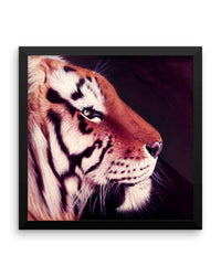 Tiger Side Framed Poster Print Detailed Tiger Wall Art-Framed Poster Prints-4Endangered