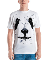 White Face Panda Graphic Design Men's T-shirt-Graphic Tees-4Endangered
