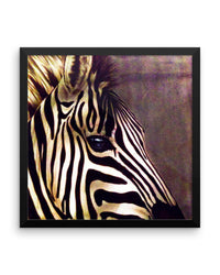 Zebra Framed Poster Print Detailed Zebra Wall Art-Framed Poster Prints-4Endangered