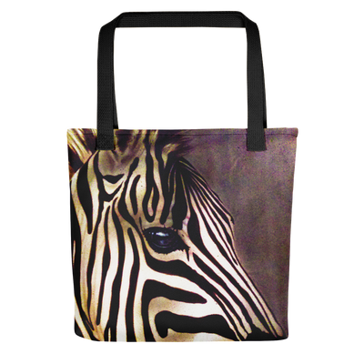 Zebra Tote Bag Realistic And Detailed For Zebra Lovers-Totes-4Endangered