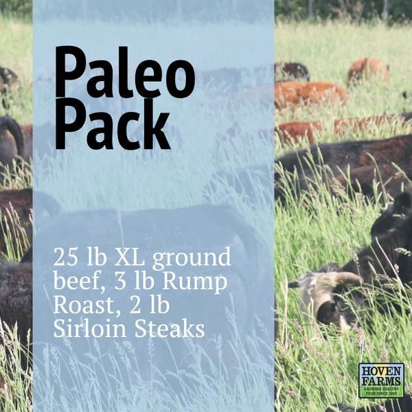 Paleo Freezer Pack - Organic, Grass Finished - 30 lbs