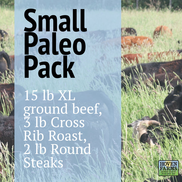 Small Paleo Freezer Pack - Organic, Grass Finished-  20 lbs of Beef